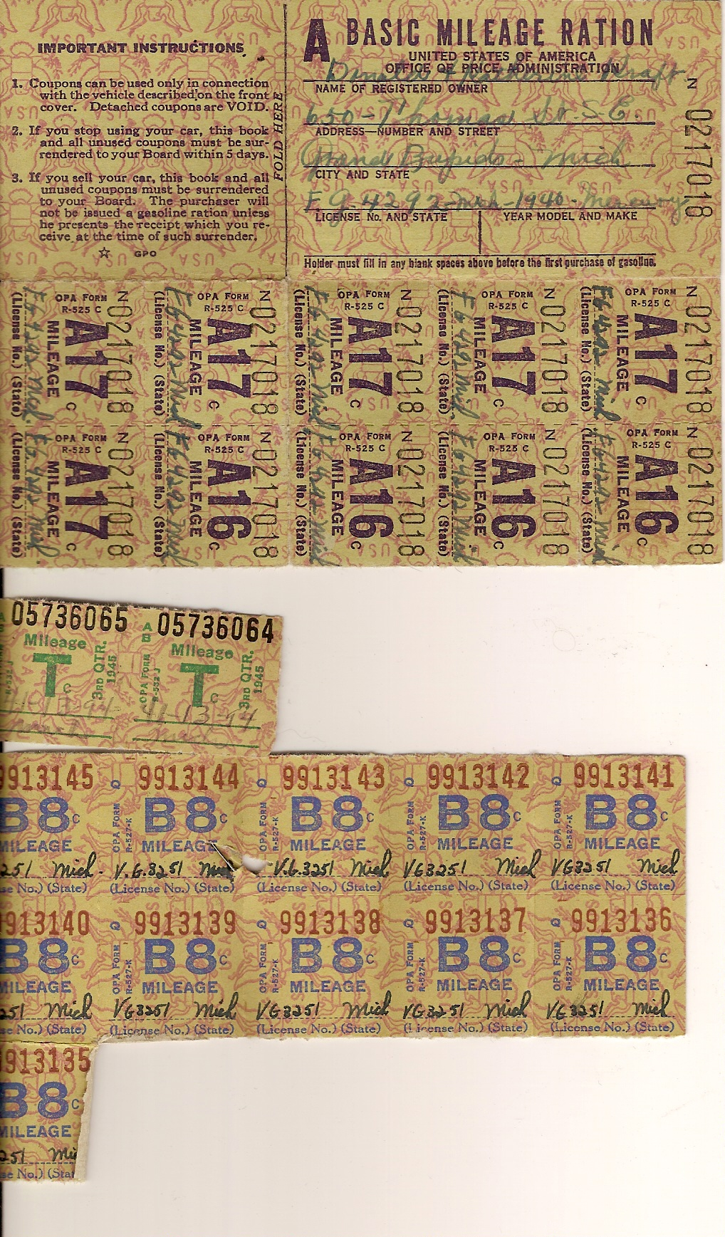 Ration Books WWII
